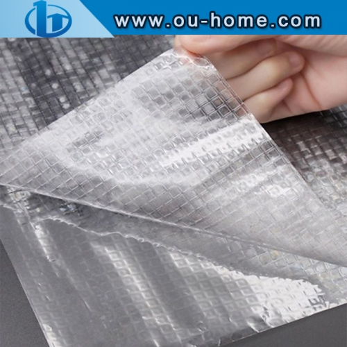 3D Embossing  Frosted Self-adhesive Glass Window PVC Stickers