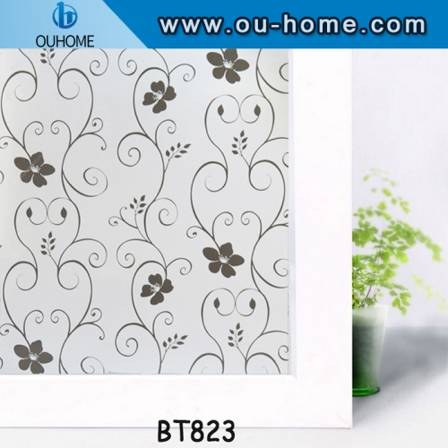PVC self-adhesive decorative stained frosted glass window film