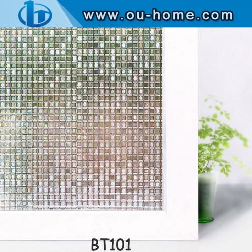 Frosted Self-adhesive 3D Embossing   PVC Glass Window Film
