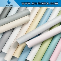 Self Adhesive Peel and Stick Wallpaper Solid Color Gloss Paper