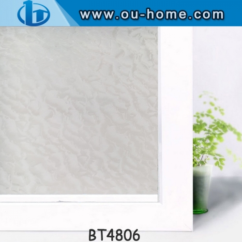 3D Embossing Privacy Decorative Glass Window Film Frosted Self-adhesive Stickers