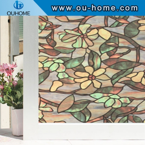 H836 Stati frosted decorative window film cellophane stained opaque bathroom glass window stickers