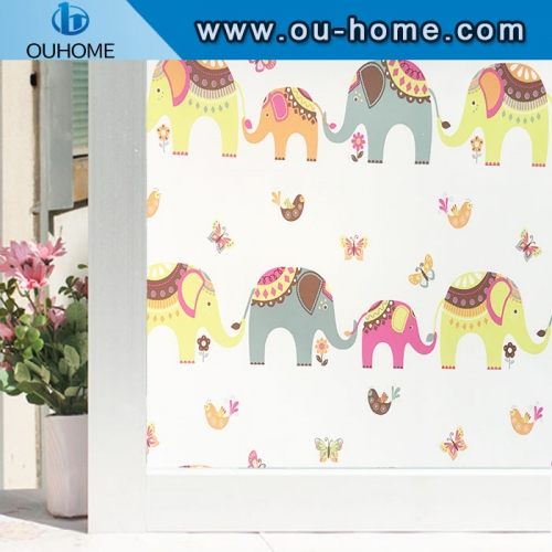 H2271 PVC Colourful Printed Static Cling Window Film