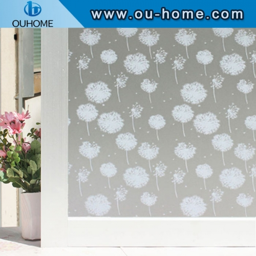 H834 3D embossing Glass Sticker Stained Privacy Static Self-Adhesive Home decorative film