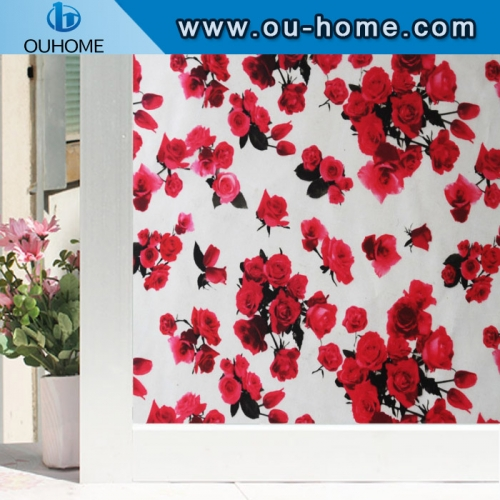 H22068 Stained Static Cling Window Film Frosted Opaque Privacy Glass film