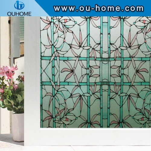 H2213 PVC stained glass static cling window film