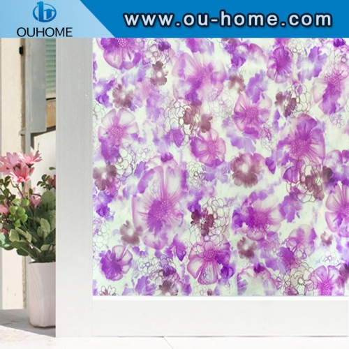 H22047 Translucence removable films decorative embossed pvc static window film