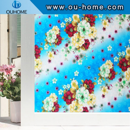 H48078 Window film glass sticker electrostatic preservation dyeing decorative film