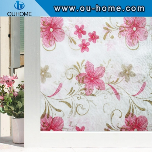 H48098 Static Cling Privacy Decorative Window Film