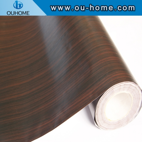 Removable wood grain pvc decorative sticker