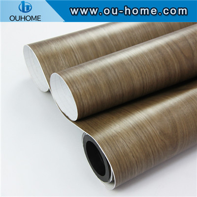 PVC Custom Wood Grain Decorative Film For