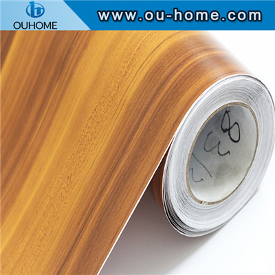 PCV wood grain Kitchen cabine for decoration film