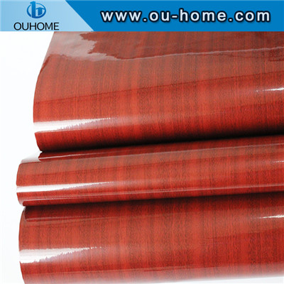 Matte Red Oak Wood Grain Decorative Film
