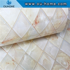 Self-adhesive wallpaper imitation marbled sticker