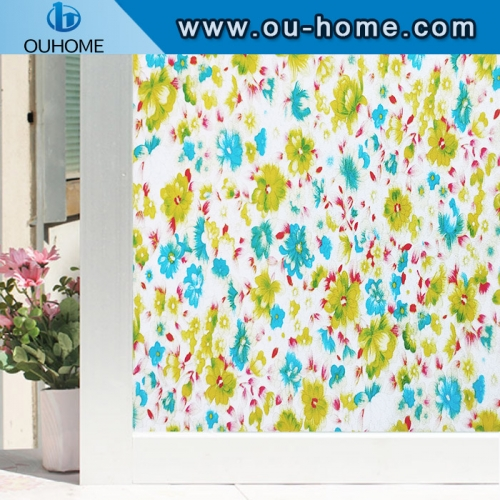 H832 Colourful decorative static window film