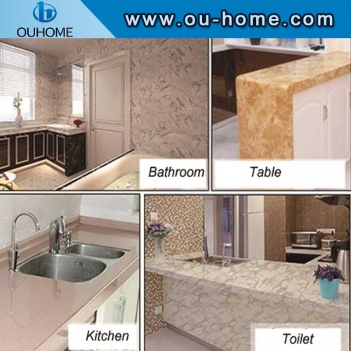 Marble dining table kitchen waterproof sticker