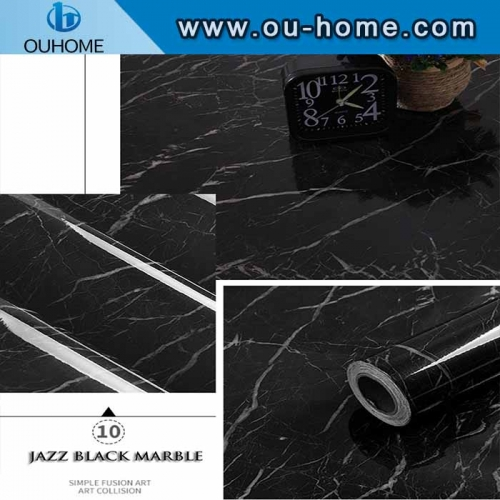 Home kitchen wall marble decorative film
