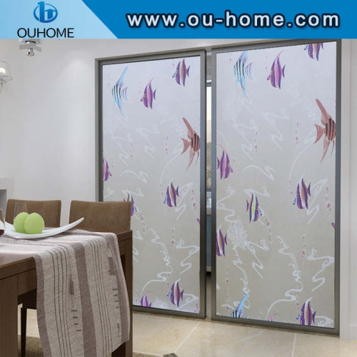 BT851 PVC frosted window privacy self-adhesive decorative film