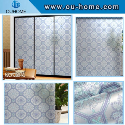 BT825 New design stained pvc frosted window film