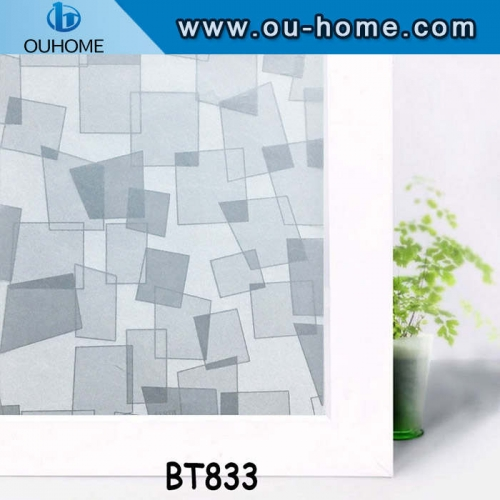 BT833 Irregular square frosted window film