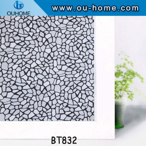 BT832 Self-adhesive frosted pvc decorative glass film