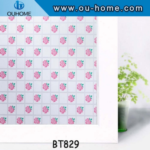 BT829 Rose tinting adhesive house window tinting