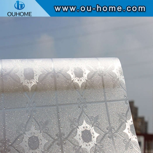 H9206 3D frosted embossing static cling window film